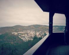 """Aussicht vom Turm """"Diana""""."""